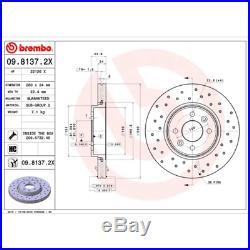 Bremsscheibe (2 Stück) BREMBO XTRA LINE Brembo 09.8137.2X