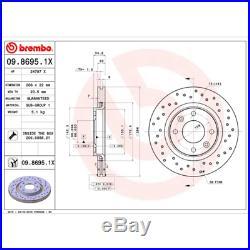 Bremsscheibe (2 Stück) BREMBO XTRA LINE Brembo 09.8695.1X