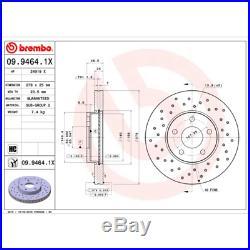 Bremsscheibe (2 Stück) BREMBO XTRA LINE Brembo 09.9464.1X