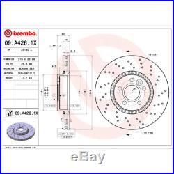 Bremsscheibe (2 Stück) BREMBO XTRA LINE Brembo 09. A426.1X