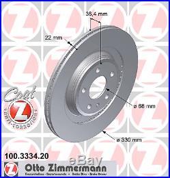 Bremsscheibe (2 Stück) COAT Z Zimmermann 100.3334.20