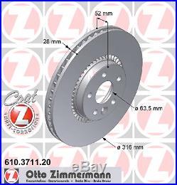 Bremsscheibe (2 Stück) COAT Z Zimmermann 610.3711.20