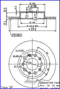 Bremsscheibe (2 Stück) COATED DISC LINE Brembo 08.9364.21