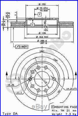 Bremsscheibe (2 Stück) COATED DISC LINE Brembo 09.6997.11