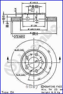 Bremsscheibe (2 Stück) COATED DISC LINE Brembo 09.8633.11