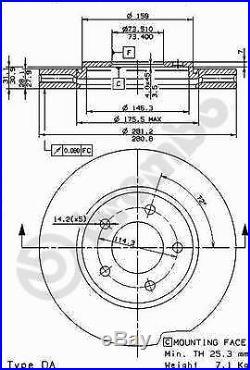 Bremsscheibe (2 Stück) COATED DISC LINE Brembo 09.8977.11