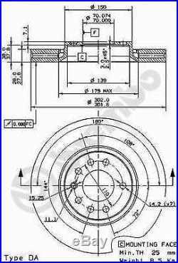 Bremsscheibe (2 Stück) COATED DISC LINE Brembo 09.9162.11