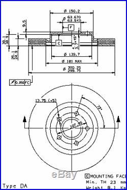 Bremsscheibe (2 Stück) COATED DISC LINE Brembo 09.9468.11