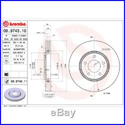 Bremsscheibe (2 Stück) COATED DISC LINE Brembo 09.9743.11