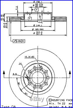 Bremsscheibe (2 Stück) COATED DISC LINE Brembo 09.9772.11