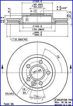 Bremsscheibe (2 Stück) COATED DISC LINE Brembo 09. A427.11