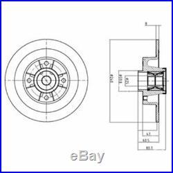 2 Stück Delphi BG9028RS Bremsscheibe