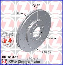 Bremsscheibe (2 Stück) SPORT-BREMSSCHEIBE COAT Z Zimmermann 100.1233.52