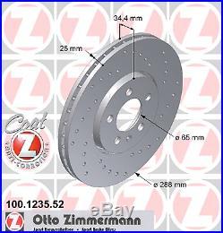 Bremsscheibe (2 Stück) SPORT-BREMSSCHEIBE COAT Z Zimmermann 100.1235.52