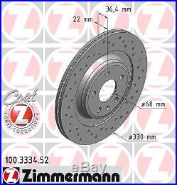 Bremsscheibe (2 Stück) SPORT-BREMSSCHEIBE COAT Z Zimmermann 100.3334.52