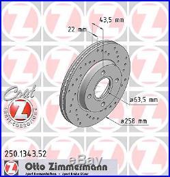 Bremsscheibe (2 Stück) SPORT-BREMSSCHEIBE COAT Z Zimmermann 250.1343.52