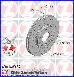 Bremsscheibe (2 Stück) SPORT-BREMSSCHEIBE COAT Z Zimmermann 430.1483.52
