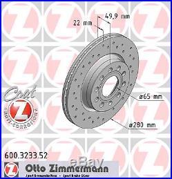 Bremsscheibe (2 Stück) SPORT-BREMSSCHEIBE COAT Z Zimmermann 600.3233.52