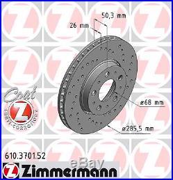 Bremsscheibe (2 Stück) SPORT-BREMSSCHEIBE COAT Z Zimmermann 610.3701.52