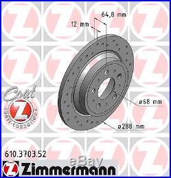 Bremsscheibe (2 Stück) SPORT-BREMSSCHEIBE COAT Z Zimmermann 610.3703.52