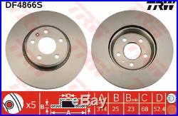 Bremsscheibe (2 Stück) TRW DF4866S