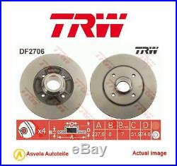 Bremsscheibe Für Renault 19 I Chamade L53 F7p 700 C1g 730 F2n 721 F2n 720 Trw
