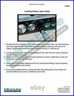 Chevrolet Silverado GMC Sierra Nylon Main & Vapor Fuel Line Repair Kit 2004-2010