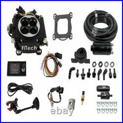 Fitech 31002 Master Kit Go EFI 4 Matte Black + In-line Fuel Pump NEW