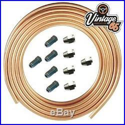 Flaring Tool 1/4 SAE Male Female Copper Brake Pipe Line 1/4 Unions 7/16 UNF
