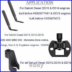 For Detroit Diesel DD15/16 Engine Brake Adjustment Barring Tool Fuel Line Socket