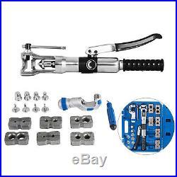 Hydraulic Pipe Expander Set Pipe Fuel Line Flaring Brake Tools Steel 3/16-7/8