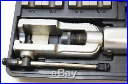 Mastercool Push Connect Tube Flaring Tool Set 71200 Brake Fuel Line Flare Kit
