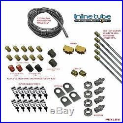 STREETROD RATROD HOTROD Brake Fuel Line Kit Set Steel Dodge Spring Clips Screws