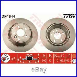 TRW 2x Bremsscheiben Voll DF4844