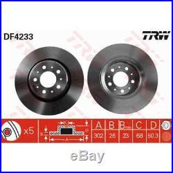 TRW 2x Bremsscheiben belüftet lackiert schwarz DF4233