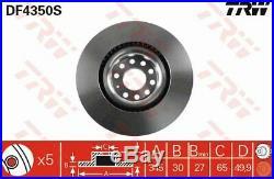 TRW 2x Bremsscheiben belüftet lackiert schwarz DF4350S