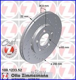 ZIMMERMANN 100.1233.52 Vorderseite Sport Bremsscheiben (Coat Z)