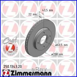 ZIMMERMANN Brake Disc COAT Z 250.1343.20