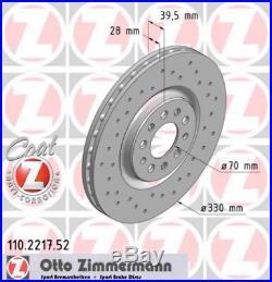 Zimmermann SPORT Bremsscheiben Satz Alfa Romeo 159 Brera Giulietta Spider vorne