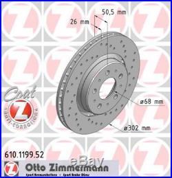 Zimmermann SPORT Bremsscheiben Satz Volvo C70 I S70 LS V70 I LV 16 Zoll vorne