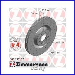 Zimmermann Sport Bremsscheiben Bremsbeläge Vw Passat 3c2 3.2fsi 4motion Va Ha